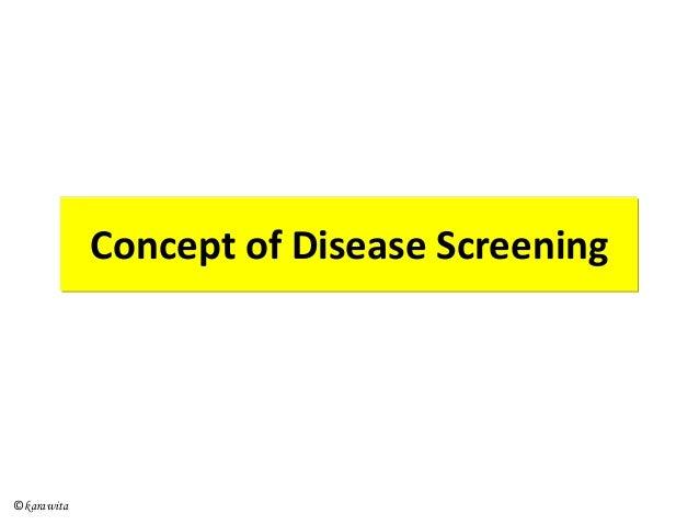 Concept of Disease Screening ©karawita