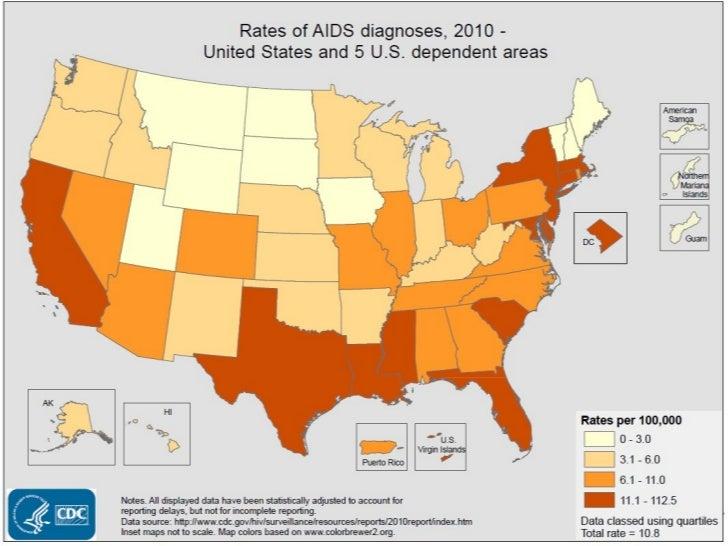 HIV US Maps - Hiv us map