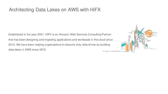 Architecting Data Lakes on AWS with HiFX Established in the year 2001, HiFX is an Amazon Web Services Consulting Partner t...