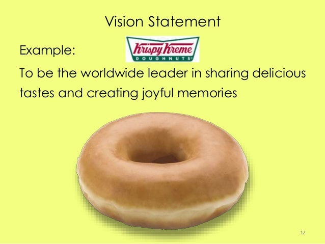 analysis of the vision mission of krispy kreme Case analysis krispy kreme doughnuts, inc thadavillil (nathan) jithendranathan professor of finance opus college of business university of st thomas st paul.
