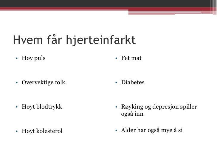 Symptomer ved hjerteinfarkt
