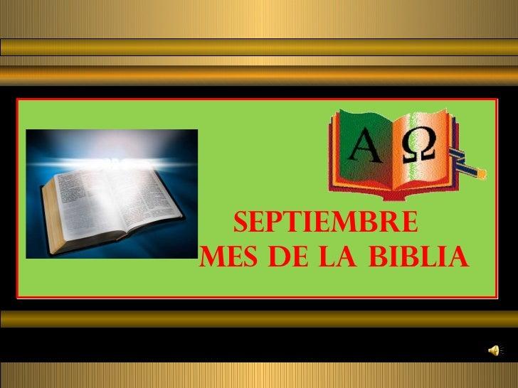 SEPTIEMBREMES DE LA BIBLIA