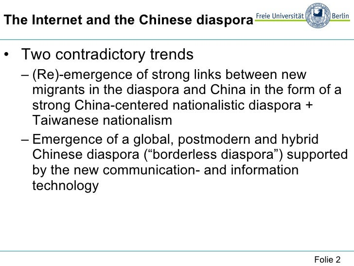 Damm_Jens---The Chinese Diasporic Cyberspace: Cultural Essentialism, Nationalism and Hybrid Identities Slide 2