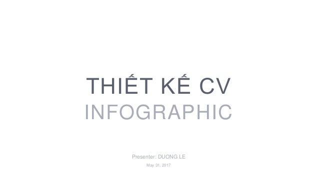Presenter: DUONG LE THIẾT KẾ CV INFOGRAPHIC May 31, 2017