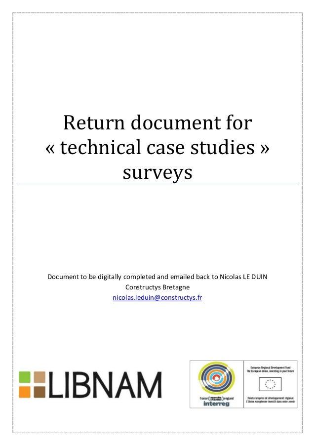 En tool 1 blank survey data sheet case studies booklet – Blank Survey