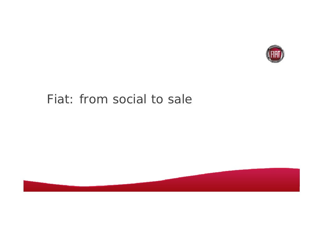 Fiat: from social to sale
