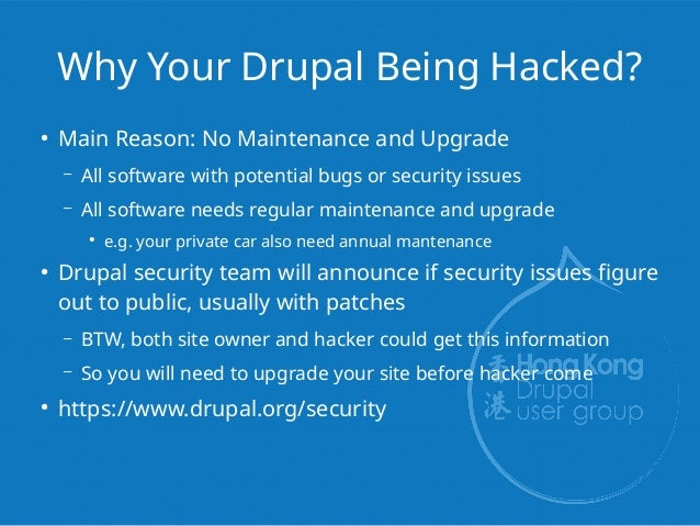 HKDUG] #20180512 - Fix Hacked Drupal with GIT