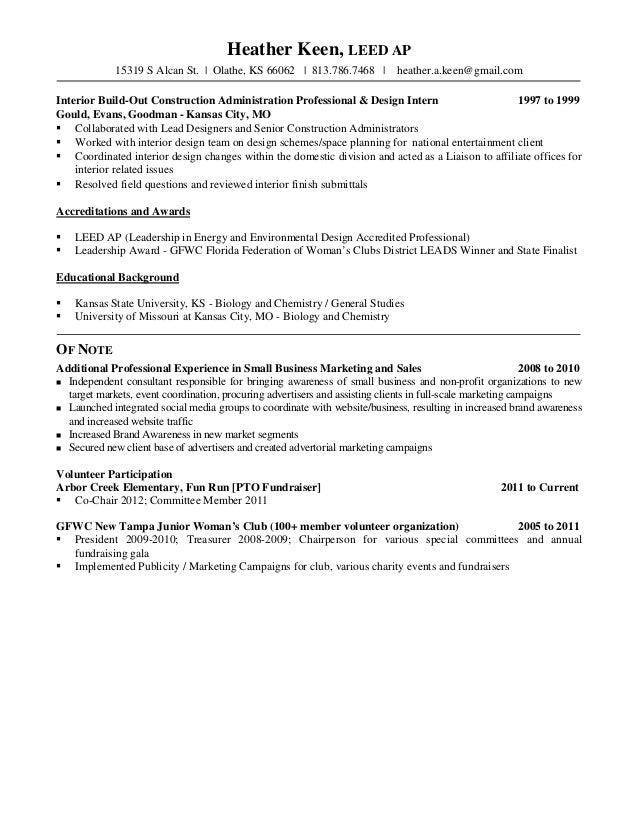 H Keen Resume With Recommendations
