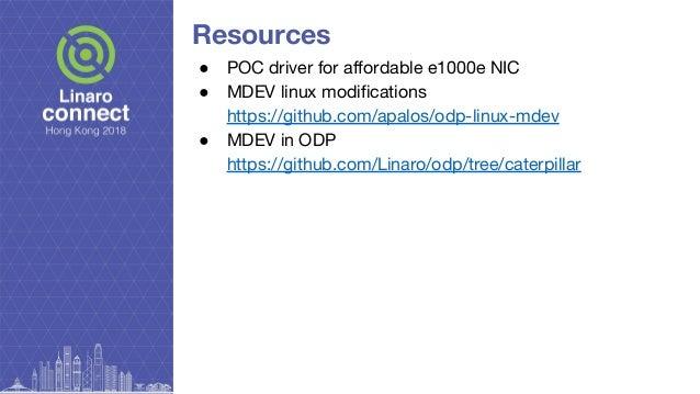 HKG18-110 - net_mdev: Fast path user space I/O