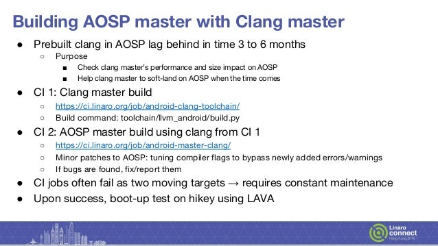 HKG18-215 - AOSP Toolchains: Where we are with building kernels, boot…