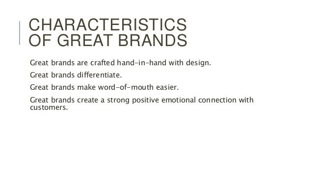 3 characteristics of great