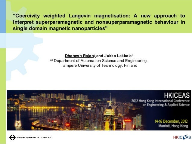 """""""Coercivity weighted Langevin magnetisation: A new approach tointerpret superparamagnetic and nonsuperparamagnetic behavio..."""