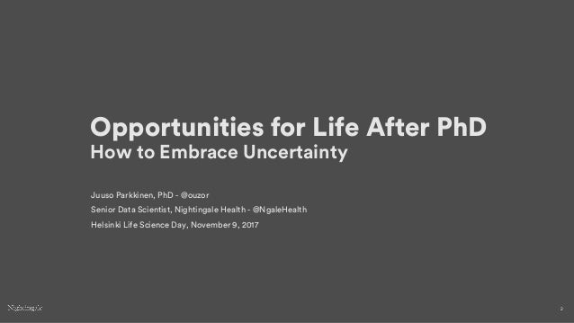 Opportunities for Life After PhD Slide 2