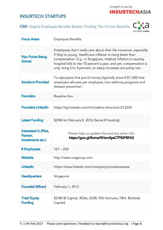 Hong Kong Insurance Tech Directory V1 0