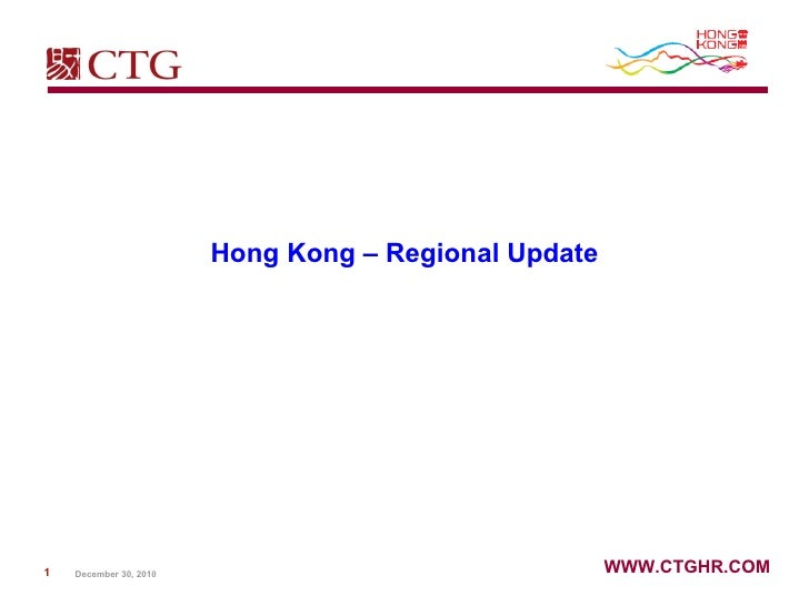 Hong Kong – Regional Update