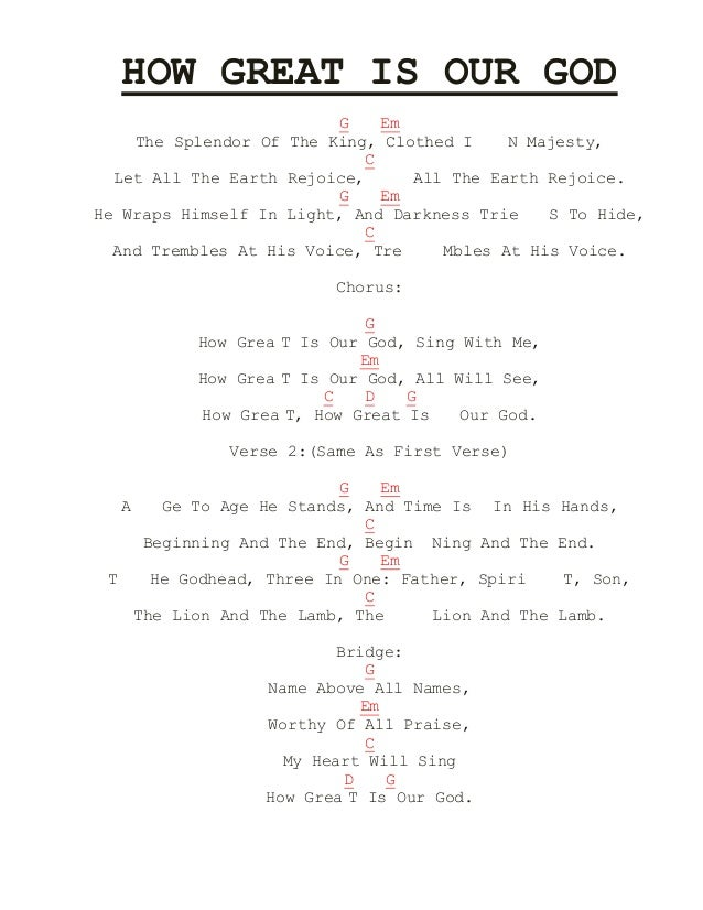 HOW GREAT IS OUR GOD CHORDS IN G EPUB DOWNLOAD