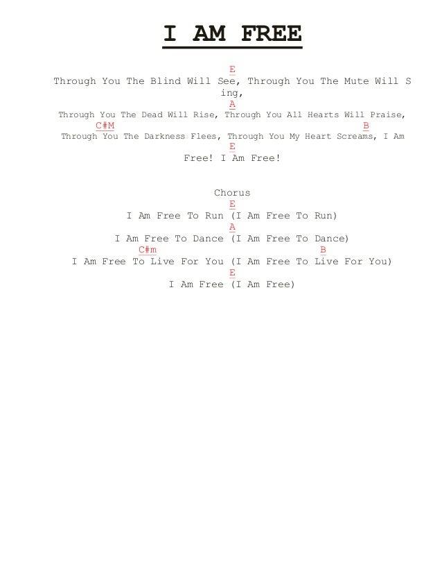 Lyric i am free lyrics : Aiza