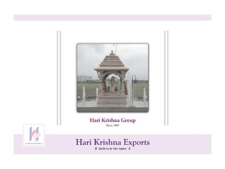 Hari Krishana Group Presentation