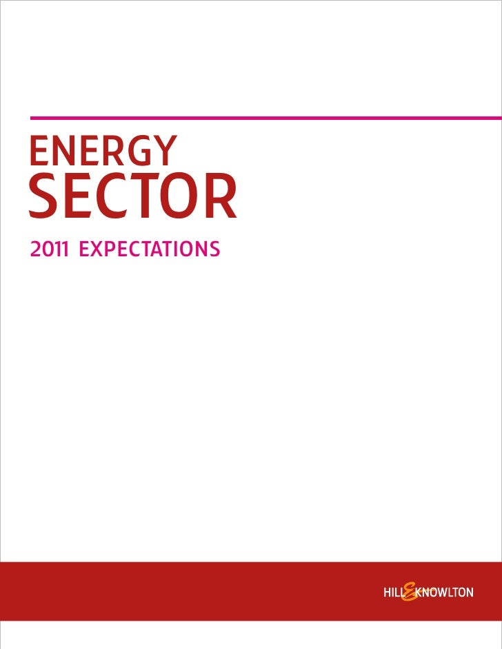 ENERGYSECTOR201 EXPECTATIONS   1