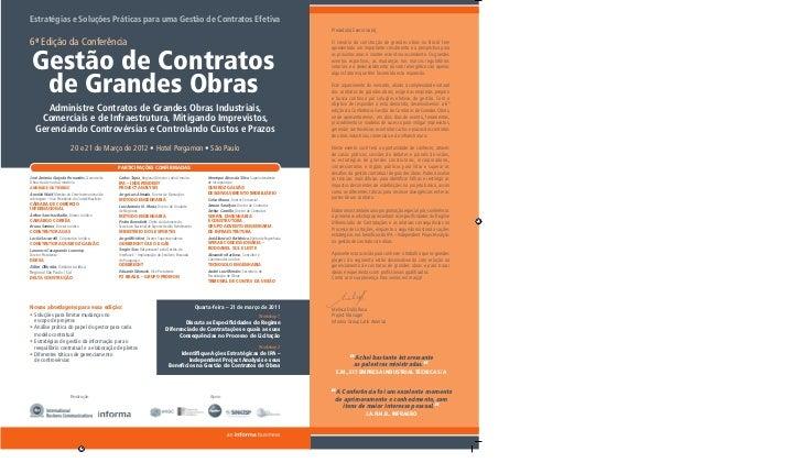 Estratégias e Soluções Práticas para uma Gestão de Contratos Efetiva6ª Edição da Conferência Gestão de Contratos  de Grand...