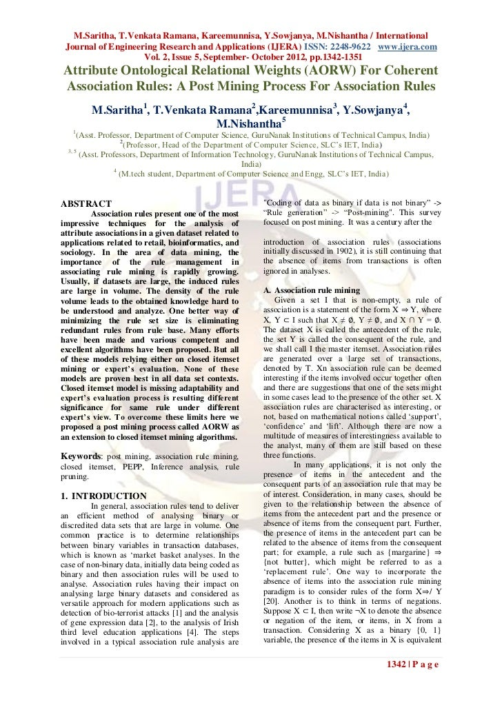 M.Saritha, T.Venkata Ramana, Kareemunnisa, Y.Sowjanya, M.Nishantha / International Journal of Engineering Research and App...
