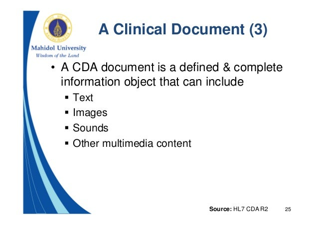 HL7 Clinical Document Architecture: Overview and Applications