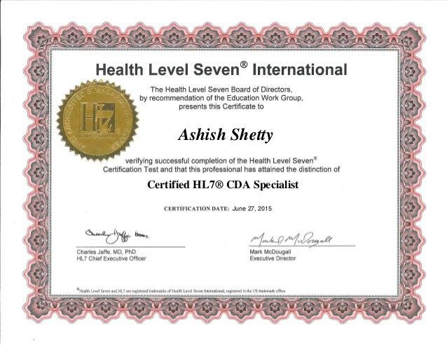 certified hl7 cda specialist