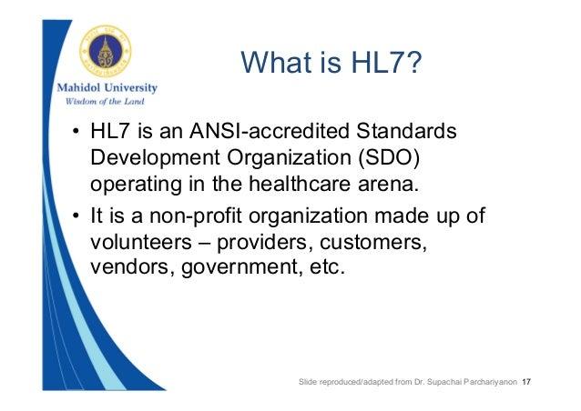 Hl7 Standards, Reference Information Model & Clinical ...