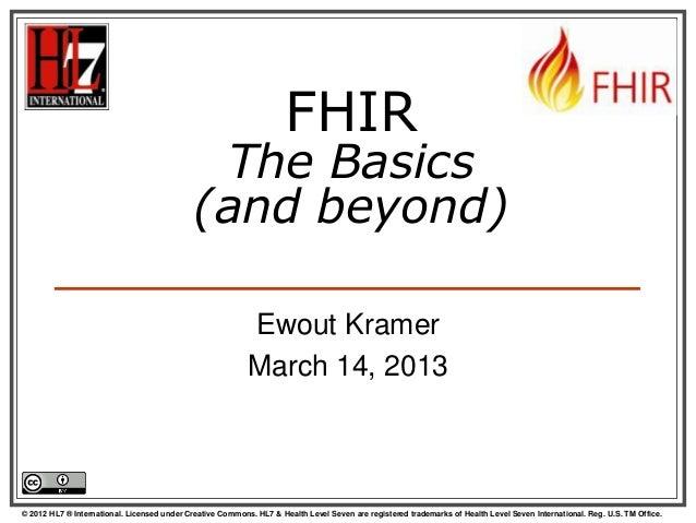 Hl7 uk fhir the basics