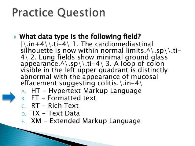 Hl7 v2 certification test preparation