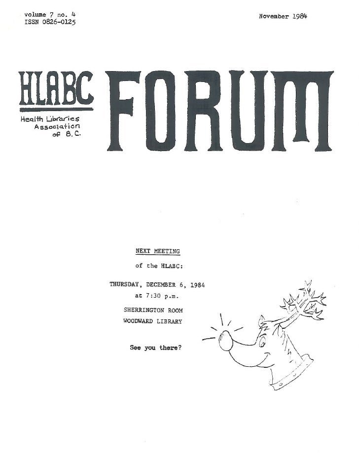 HLABC Forum: November 1984