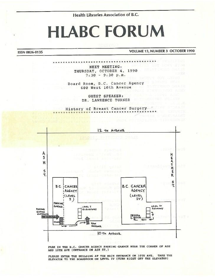 HLABC Forum: October 1990