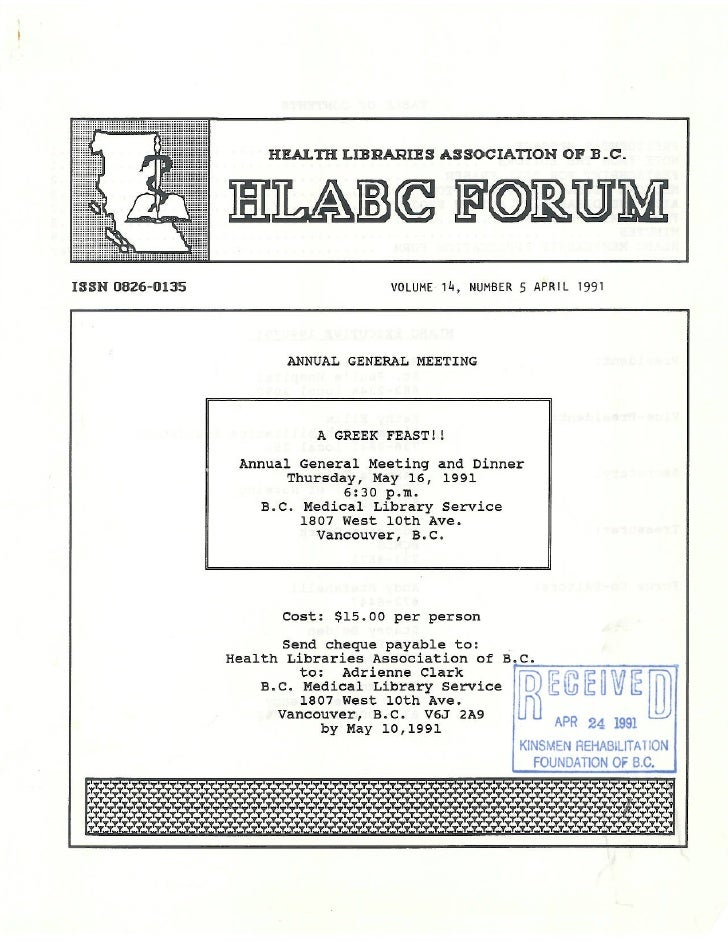 HLABC Forum: April 1991