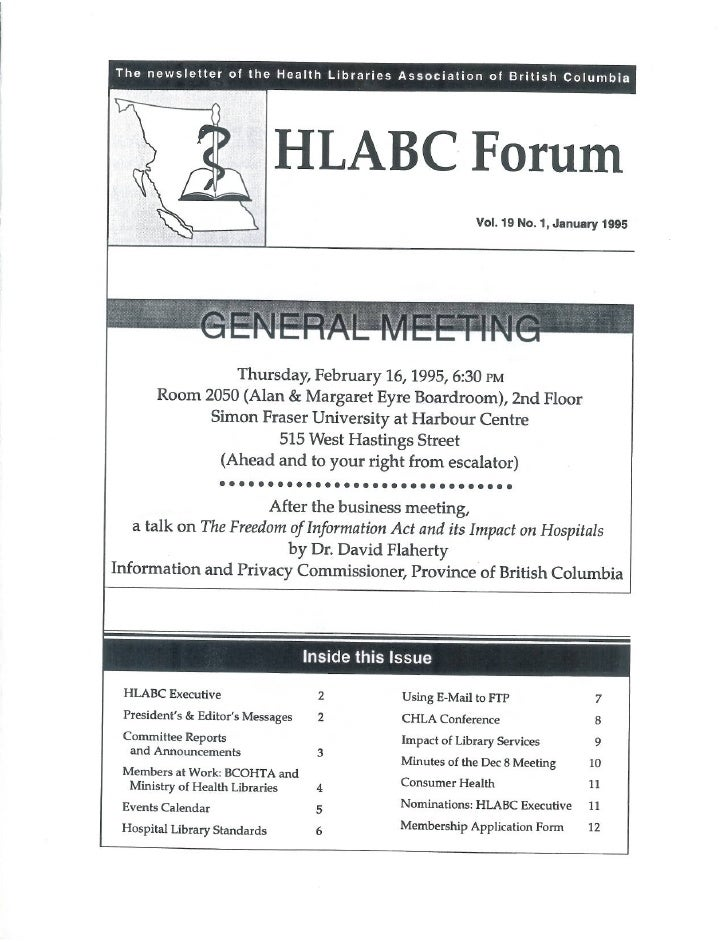 HLABC Forum: January 1995