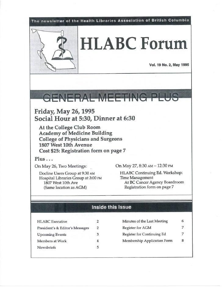 HLABC Forum: May 1995