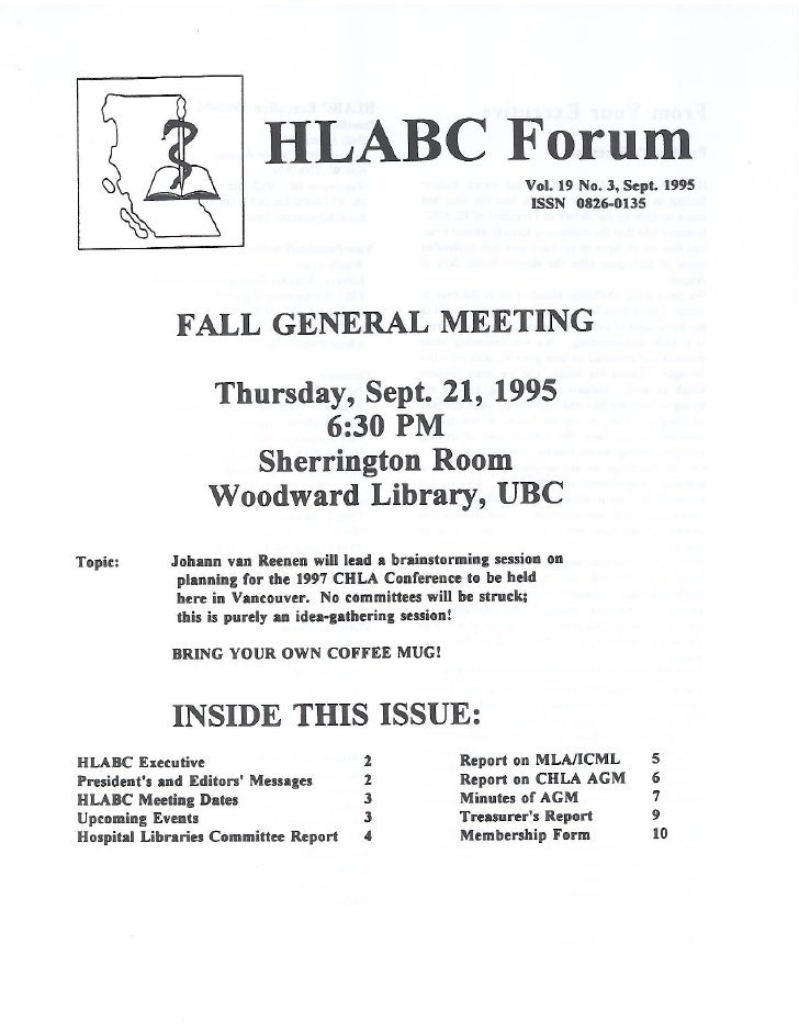 HLABC Forum: September 1995