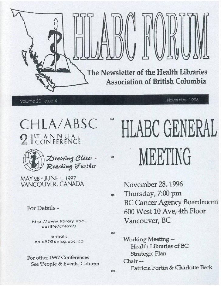 HLABC Forum: November 1996