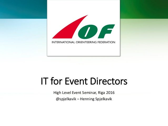 It For Event Directors