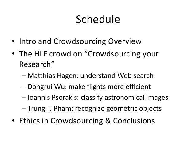 Workshop on Crowd-sourcing