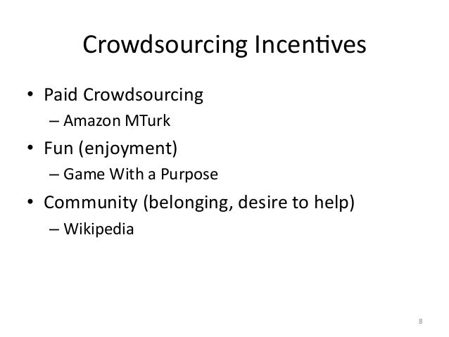 Crowdsourcing  Examples