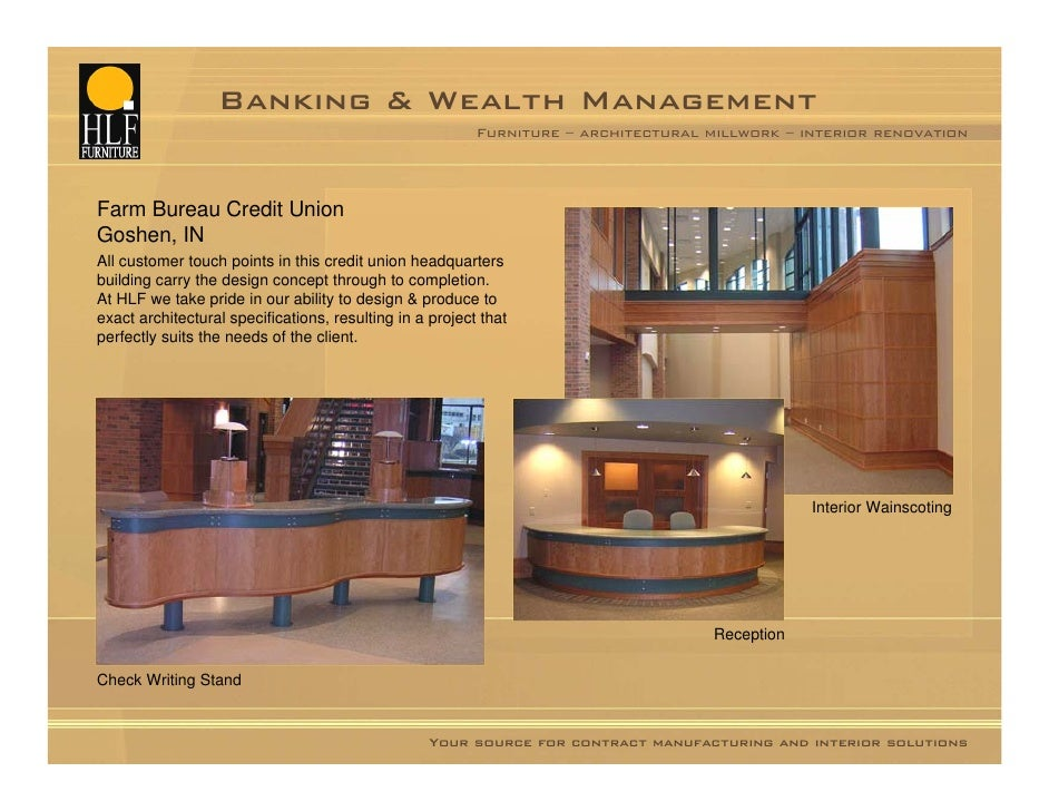 Banking Millwork Furniture Solutions