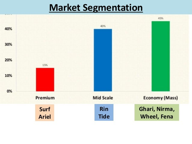 market segmentation of rin vs tide Traditional market segmentation seeks to divide the market into homogenous groups based on characteristics such as gender, race, geographic location, income, and psychographic profile.