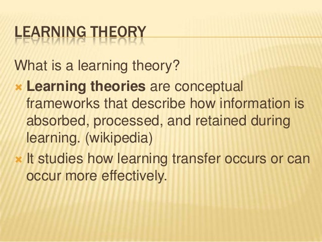 assignment 1 learning theories fina What should i know about wac and graduate education  sequence activities ( reading, researching, writing) to build toward the final product  apprenticeship  studies and paretti, 2008, on situated learning and activity theory  one  particularly thorough explanation of this process appears in leydens & santi ( 2006.