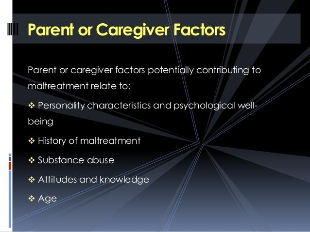 Factors contributing to child abuse