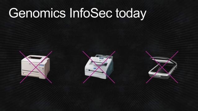 Genomics InfoSec today