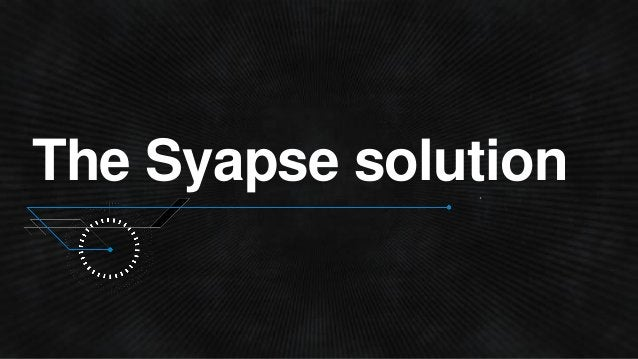 The Syapse solution