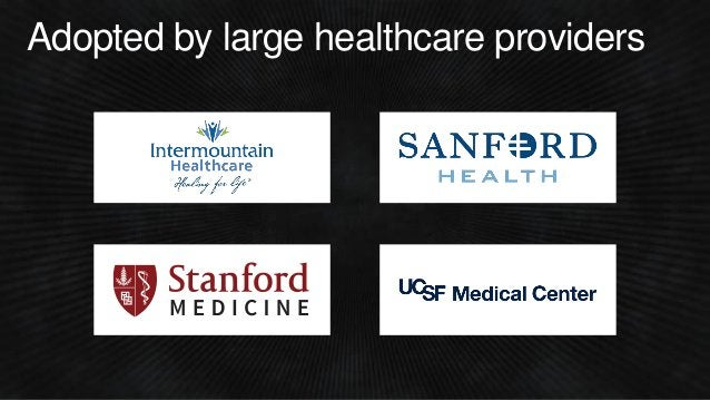 Adopted by large healthcare providers