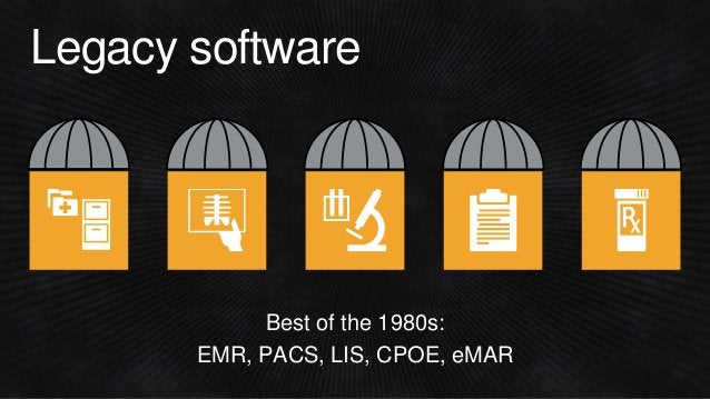Best of the 1980s: EMR, PACS, LIS, CPOE, eMAR Legacy software