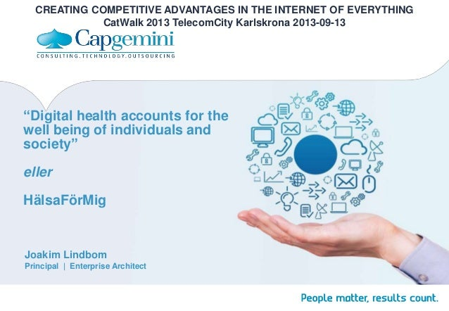 """Digital health accounts for the well being of individuals and society"" eller HälsaFörMig Joakim Lindbom Principal 