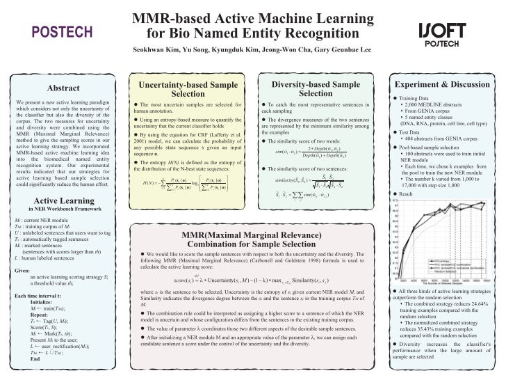MMR-based active machine learning for Bio named entity recognition